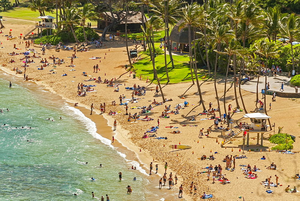 Beach, Hanauma Bay, Oahu, Hawaii, United States, North America