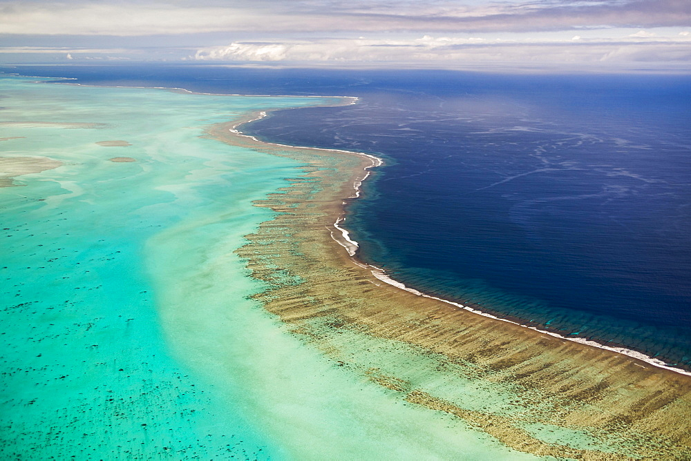 Barrier of the coral reef of Grande Terre, New Caledonia, Oceania
