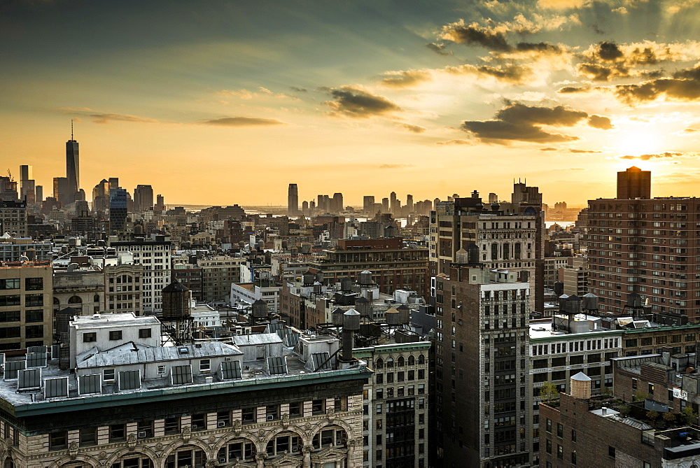 Skyline Midtown and Downtown Manhattan, New York, United States, North America