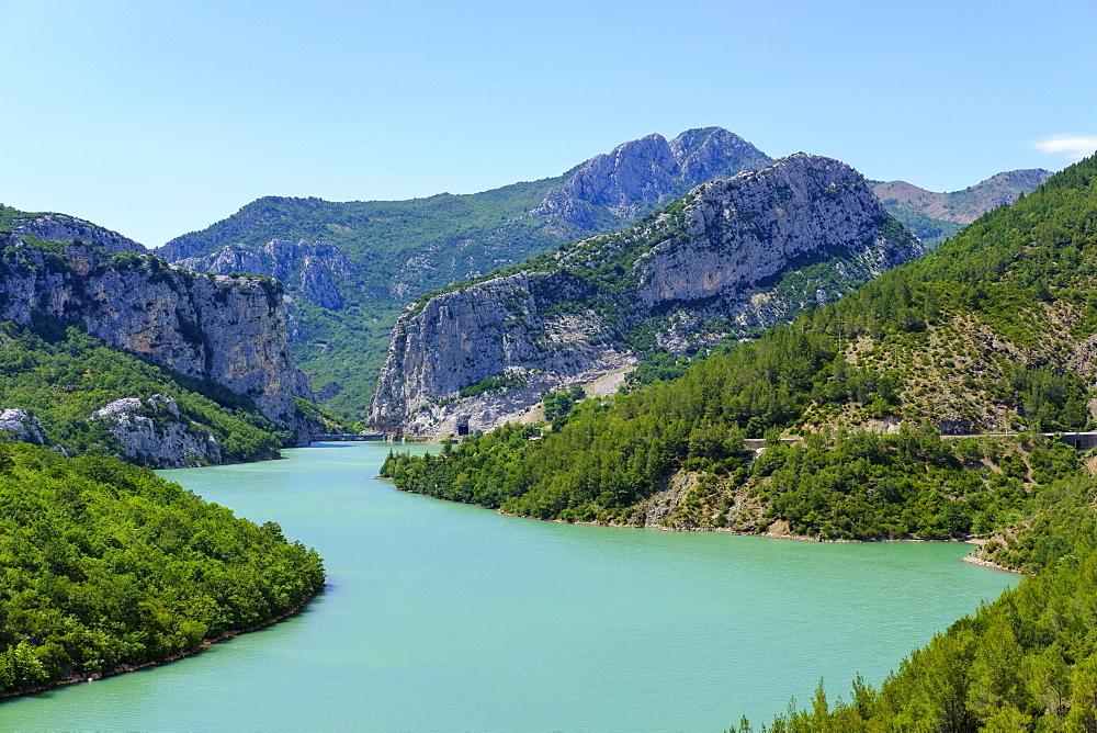 Shkopet Reservoir, Liqeni i Shkopetit, Mat River, Ulez, Qarra Dibra, Albania, Europe