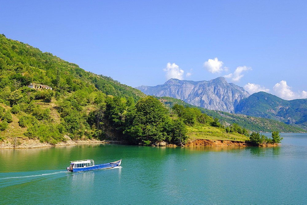 Koman Reservoir, Liqeni i Komanit, Drin River, Qark Shkodra, Albania, Europe