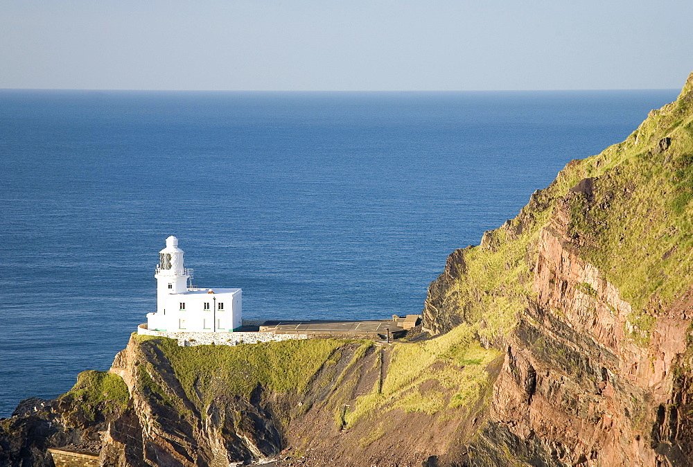 Lighthouse of Hartland Point, Devon, England, Great Britain
