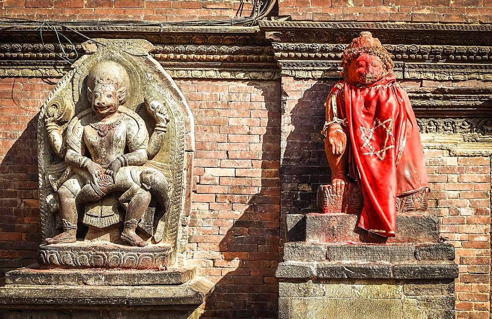 Hindu Deities, Statues, Temples, Durbar Square, Patan, Kathmandu Valley, Himalayan Region, Nepal, Asia