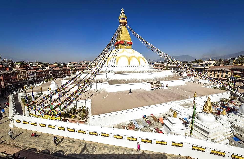 Boudhanath Stupa, Boudha, Tibetan Buddhism, Kathmandu, Nepal, Asia