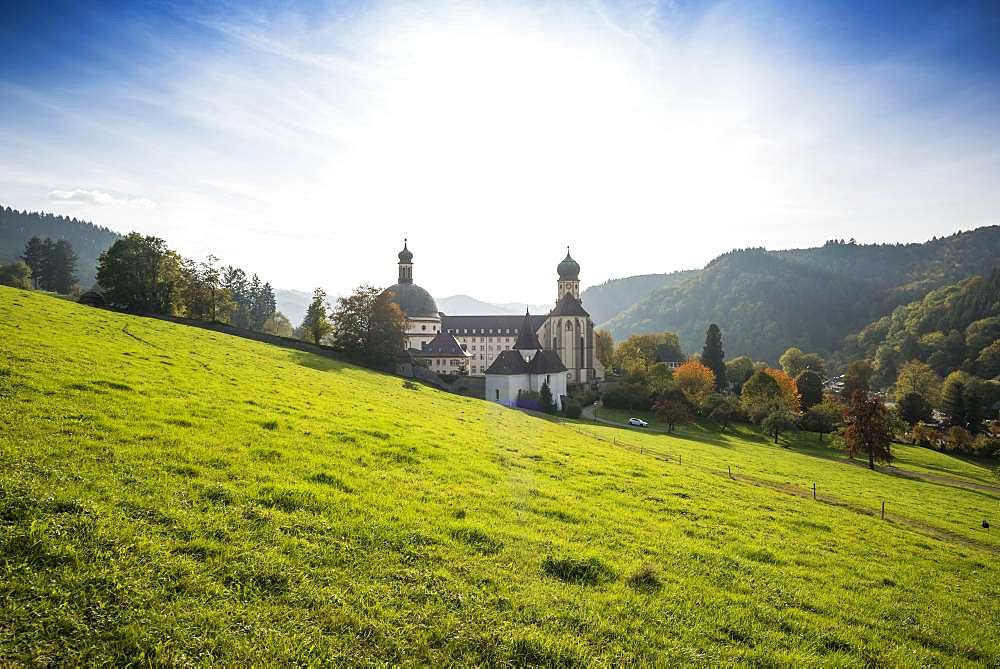 St. Trudpert Monastery in Muenstertal, Staufen, Baden-Wuerttemberg, Black Forest, Germany, Europe