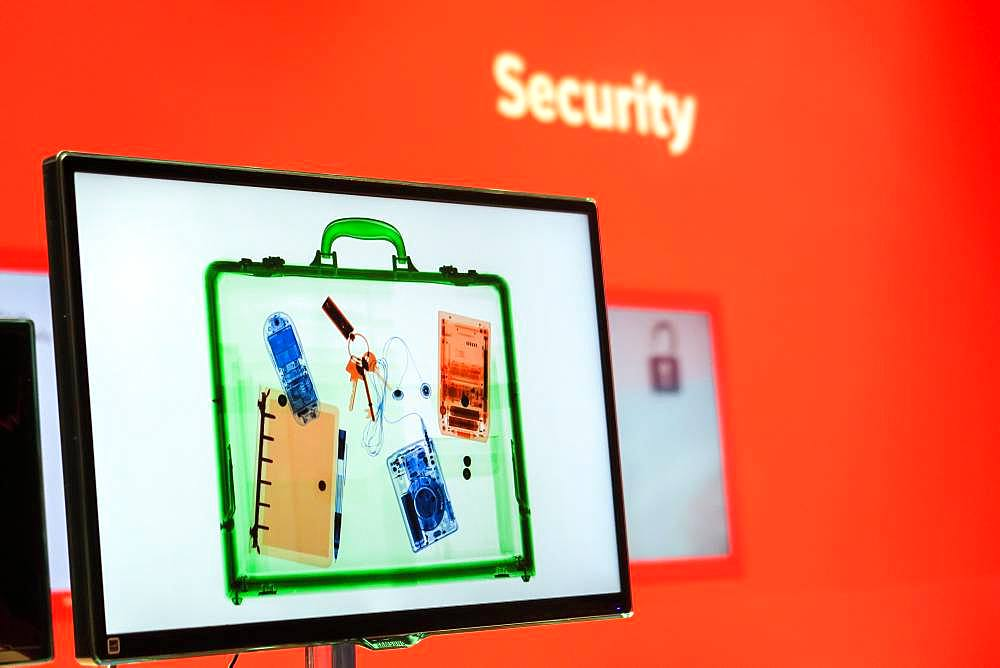 X-ray control on screen, Security Check, Germany, Europe