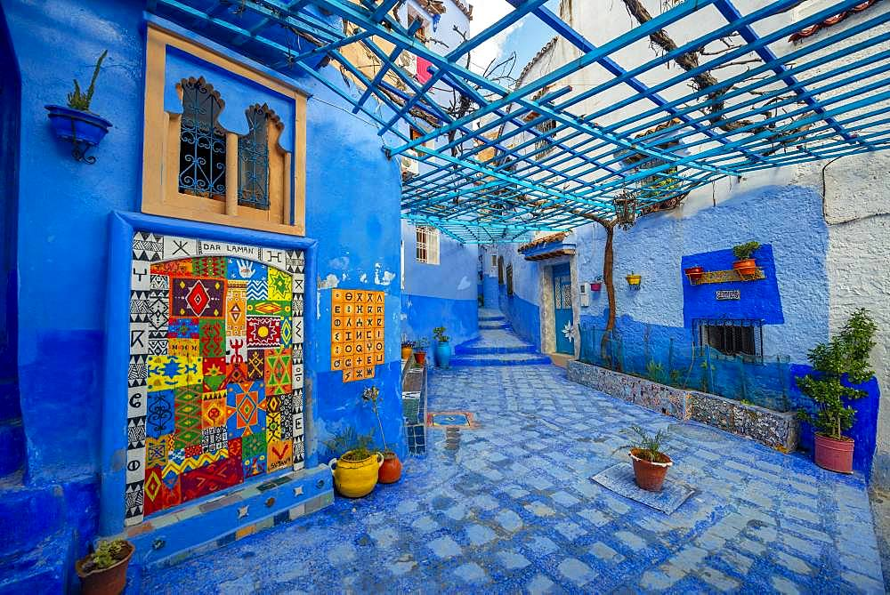 Old Town, Blue House Walls, Medina of Chefchaouen, Chaouen, Tanger-Tetouan, Morocco, Africa