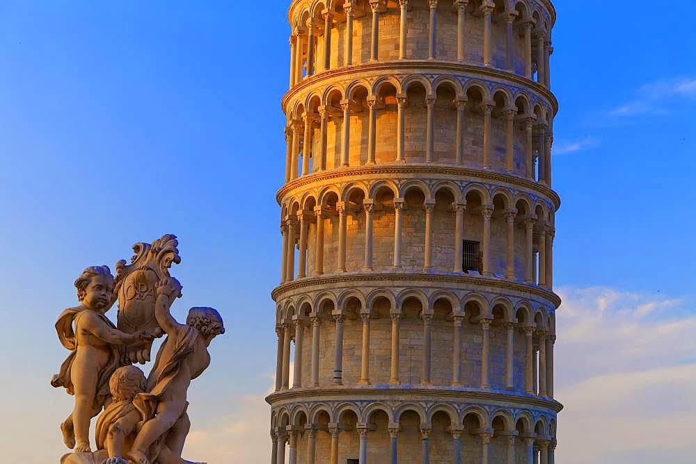 Leaning Tower, Campo dei Miracoli, Pisa, Tuscany, Italy, Europe