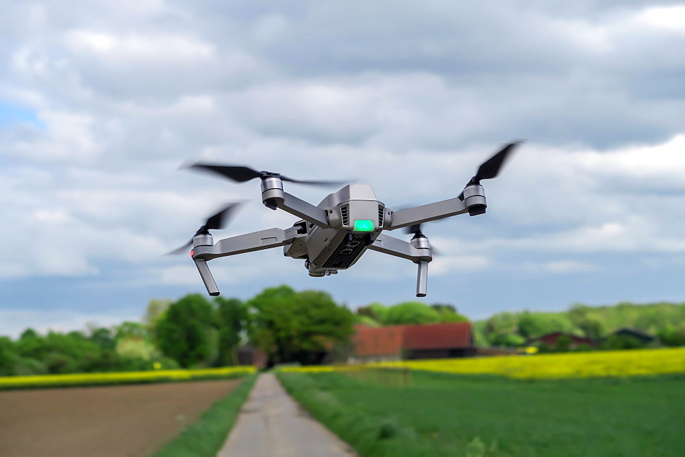 Drone during take-off, Germany, Europe