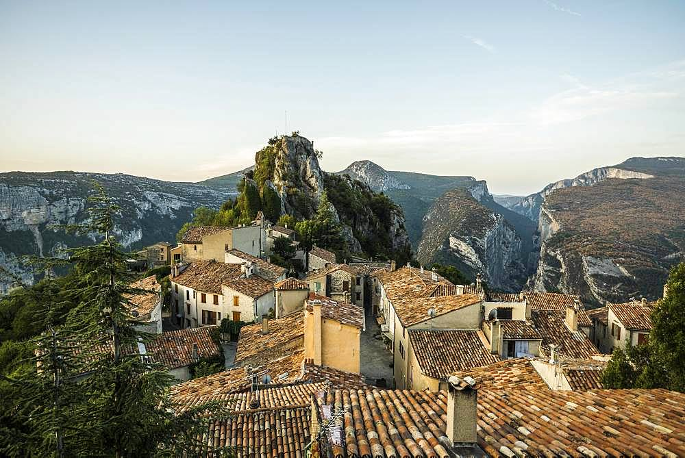 Rougon mountain village, Verdon gorge, Gorges du Verdon, Alpes-de-Haute-Provence department, Provence-Alpes-Cote d'Azur region, France, Europe