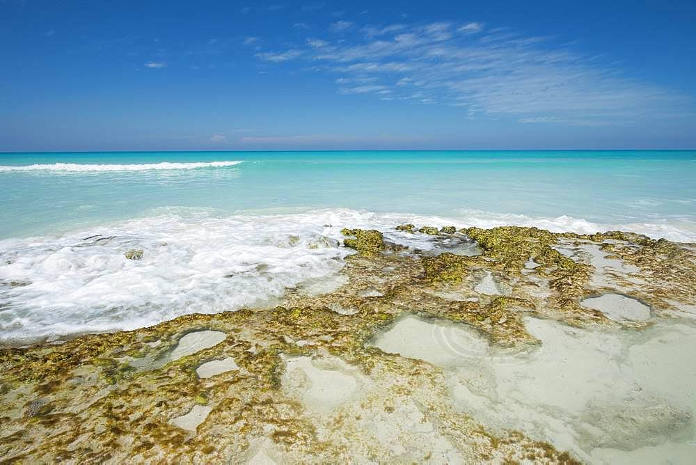 Turquoise water on the beach, Atlantic Ocean, Cayo Santa Maria, Cuba, Central America