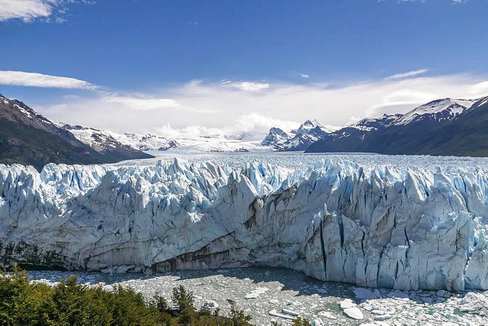 Perito Moreno Glacier Rugged Ice Field, Los Glaciares National Park, Santa Cruz Province, Patagonia, Argentina, South America