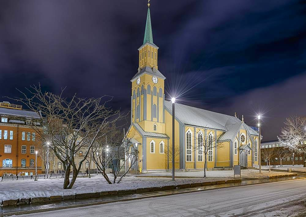 Church, Night, Tromso, Norway, Europe