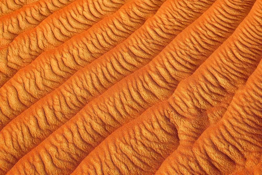 Sand ripples, texture on a sanddune, Tassili n'Ajjer National Park, Sahara, Algeria, Africa