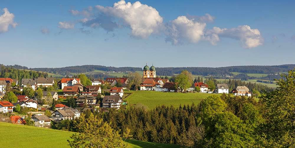 View of St.Maergen in the Black Forest, Baden Wuerttemberg, Germany, Europe