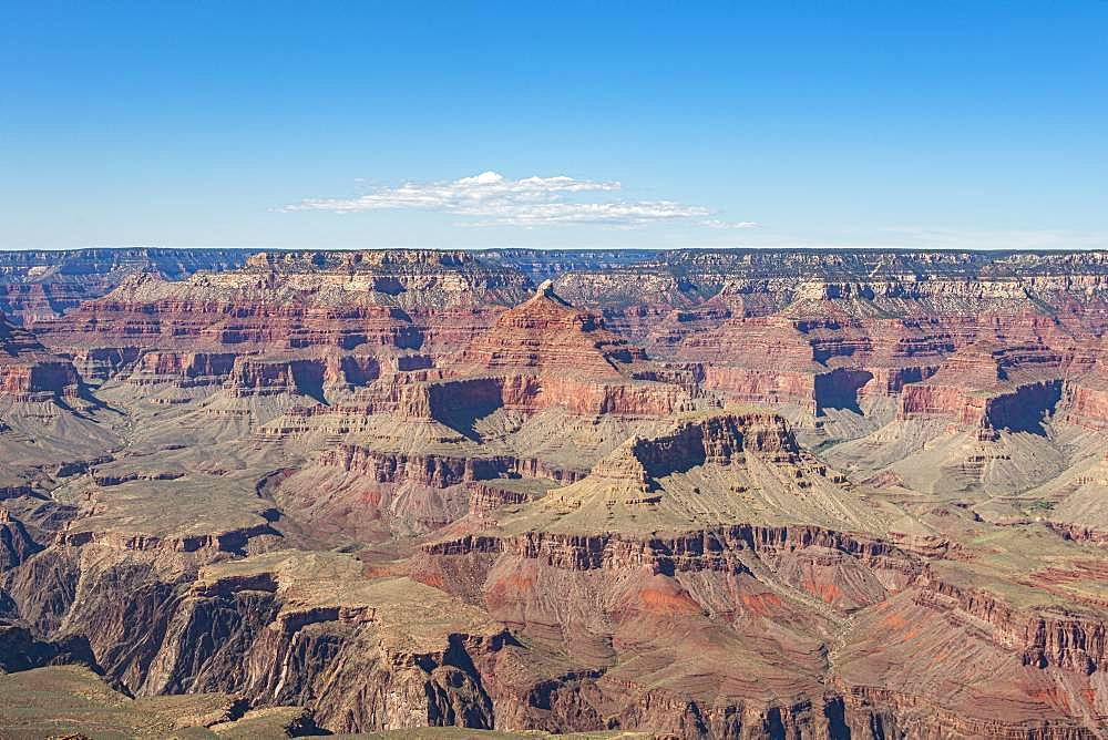 Canyon landscape, eroded rocky landscape of the Grand Canyon, South Rim, Grand Canyon National Park, Arizona, USA, North America