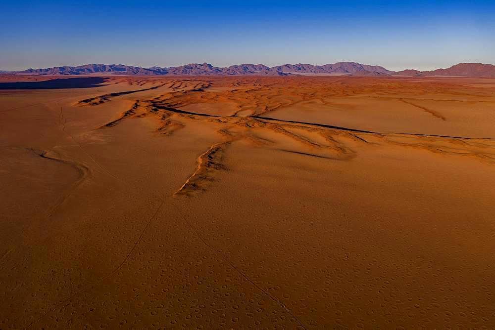 View from Wolwedans Dunes Lodge, NamibRand Nature Reserve, Namib Desert, Namibia, Africa