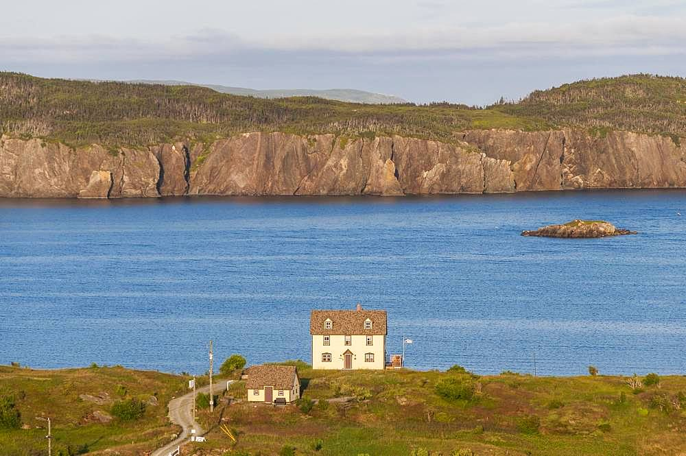 Wooden houses on a hill, Bay of Trinity, Trinity, Newfoundland and Labrador, Canada, North America