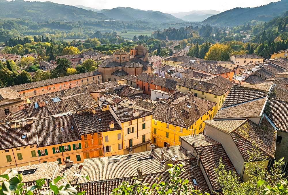 View of Brisighella, Emilia-Romagna, Italy, Europe