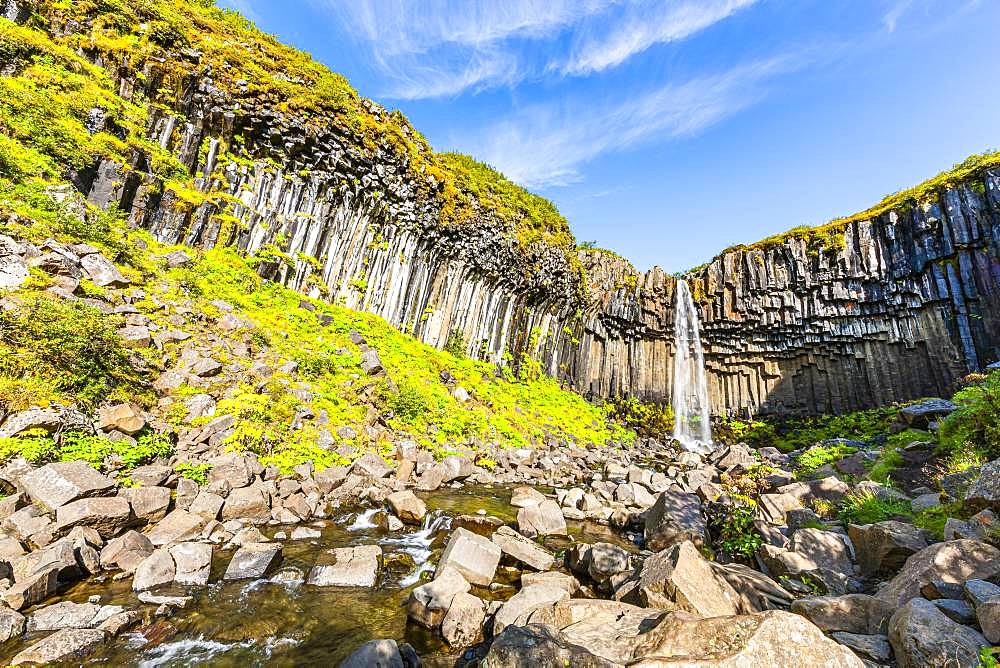 Svartifoss, Skaftafell National Park, Sudurland, South Iceland, Iceland, Europe