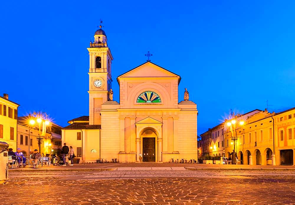 The Church of Santa Maria Nascente, location of the films of Don Camillo and Peppone, Brescello, Province of Reggio Emilia, Emilia-Romagna, Italy, Europe