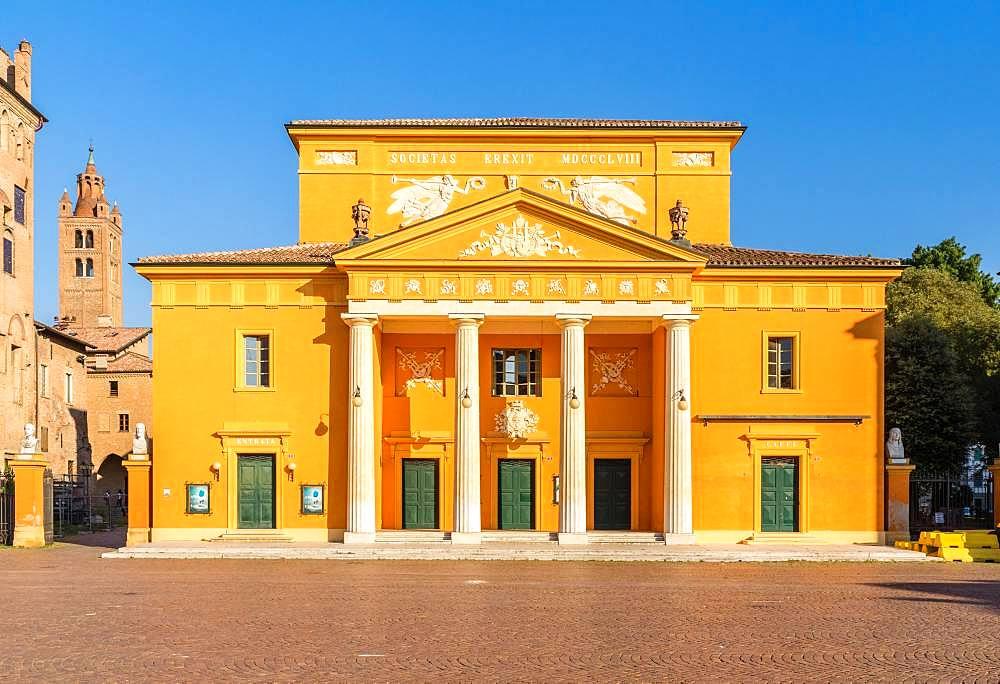 Classicist Teatro Comunale, Piazza dei Martiri, Carpi, Province of Modena, Emilia-Romagna, Italy, Europe
