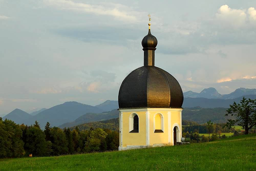 Veit Chapel of the Pilgrimage Church St. Marinus and Anian, Irschenberg, Upper Bavaria, Bavaria, Germany, Europe