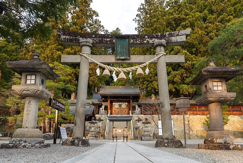 Torii Tor, Sakurayama Hachimangu Shrine, Takayama, Gifu, Japan, Asia