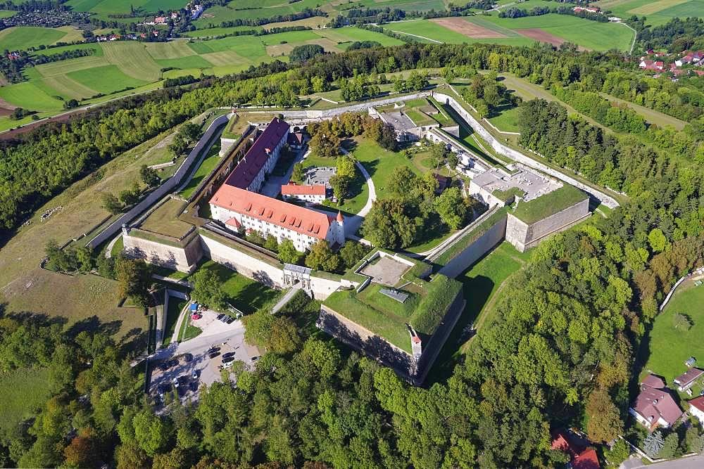 Wuelzburg, pentagonal bastion plant, near Weissenburg, Altmuehltal natural preserve, Middle Franconia, Franconia, Bavaria, Germany, Europe