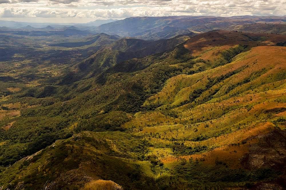 Mountain landscape, near Chama, Muchinga Province, Zambia, Africa