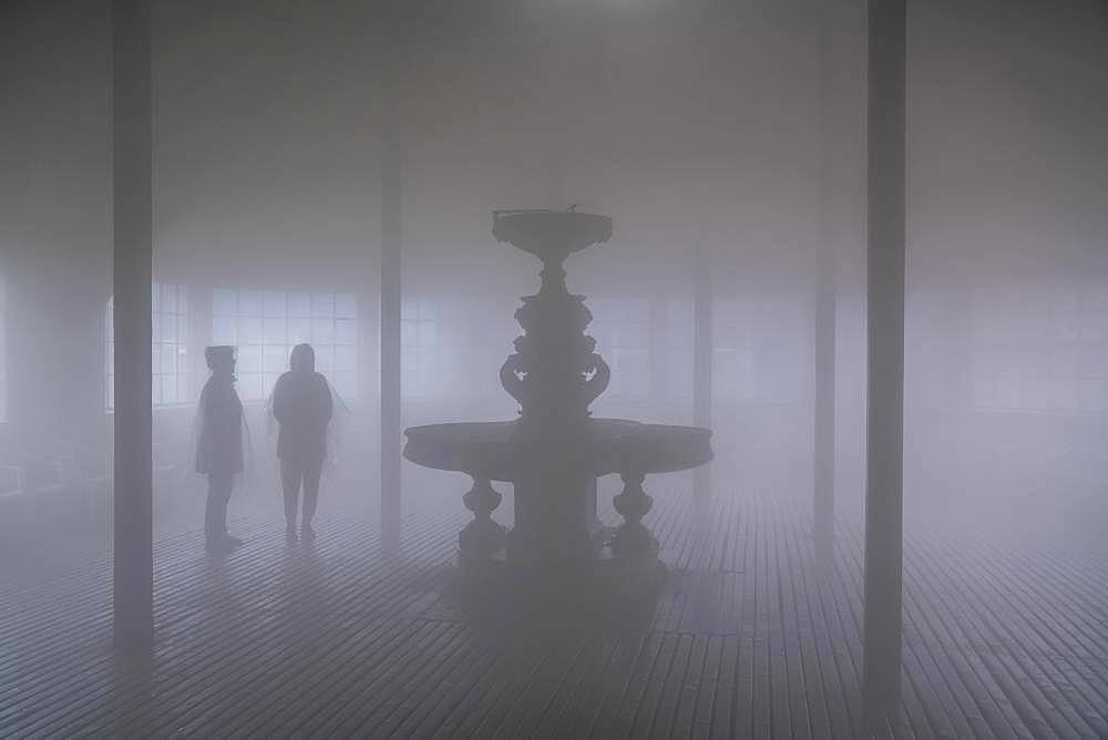 Brine fog in the breathing centre of the graduation house, Bad Salzungen, Thuringia, Germany, Europe