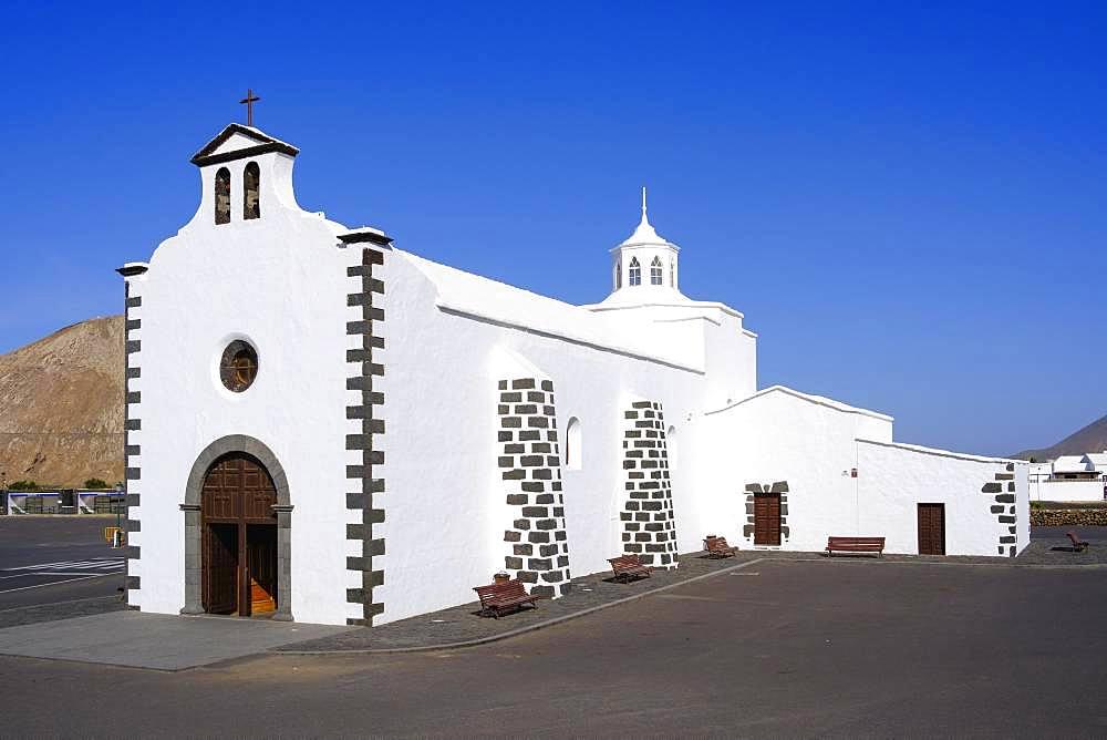 Church Ermita de los Dolores in Mancha Blanca, near Tinajo, Lanzarote, Canary Islands, Spain, Europe