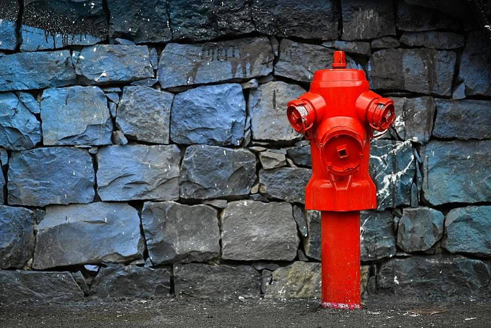 Red Hydrant, Camara de Lobos, Madeira Island, Portugal, Europe