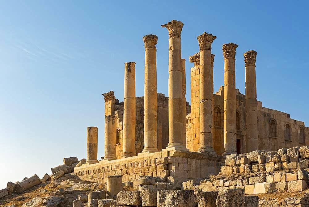 Temple of Zeus, Jerash, Jordan, Asia