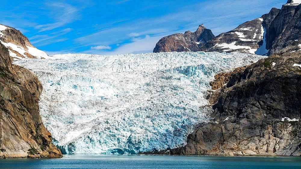 Glacier at Prins Christian Sund, Greenland, North America - 832-386715