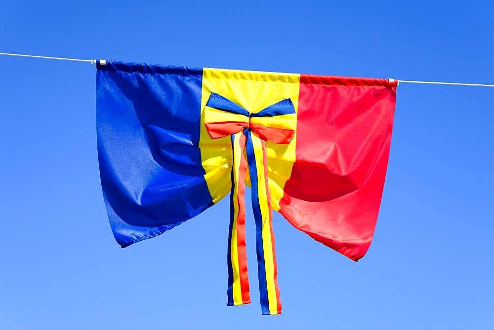 Romanian flag as bow, Romania, Europe