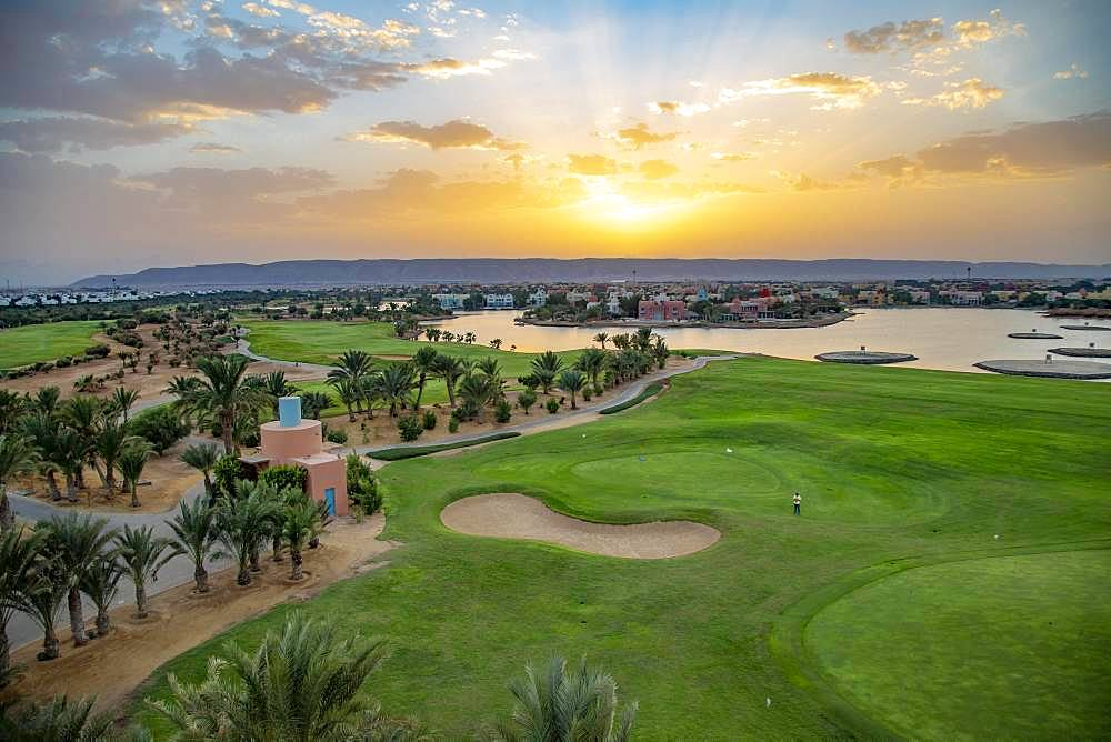 Golf course of the holiday town El Gouna, near Hurghada, Egypt, Africa