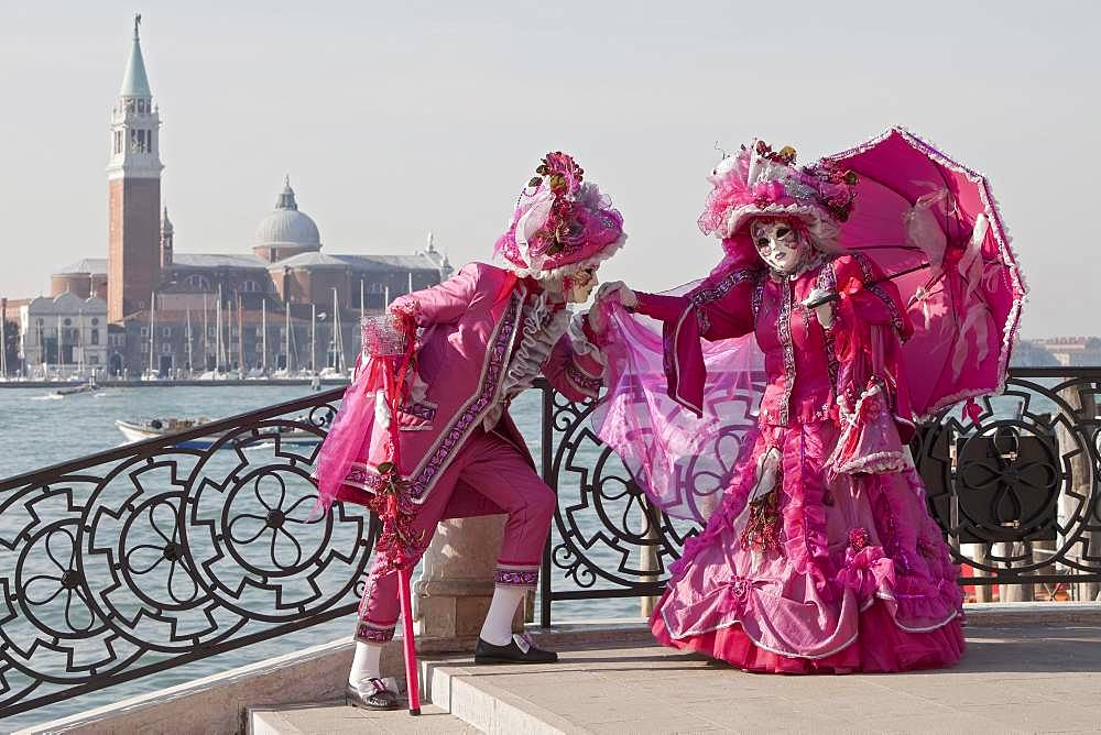 Couple, Carnival in Venice, Venice, Italy, Europe