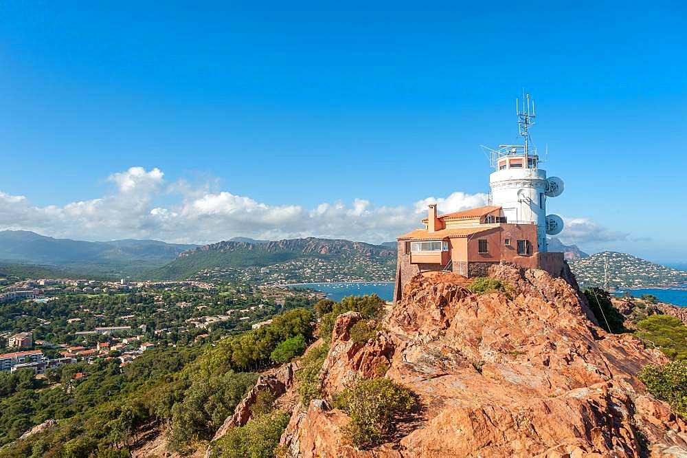 Lighthouse at Cap du Dramont, Saint-Raphael, Var, Provence-Alpes-Cote d'Azur, France, Europe