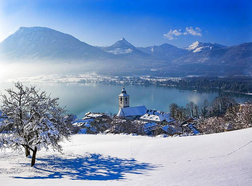 Wolfgangsee, Sankt Wolfgang, Salzkammergut, Austria, Europe
