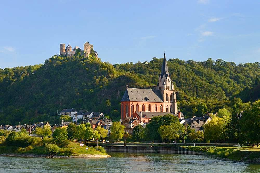 Local view of Oberwesel, Rhineland-Palatinate, Germany, Europe