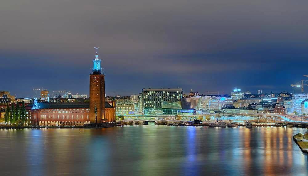 City Hall Night, Stockholm, Sweden, Europe