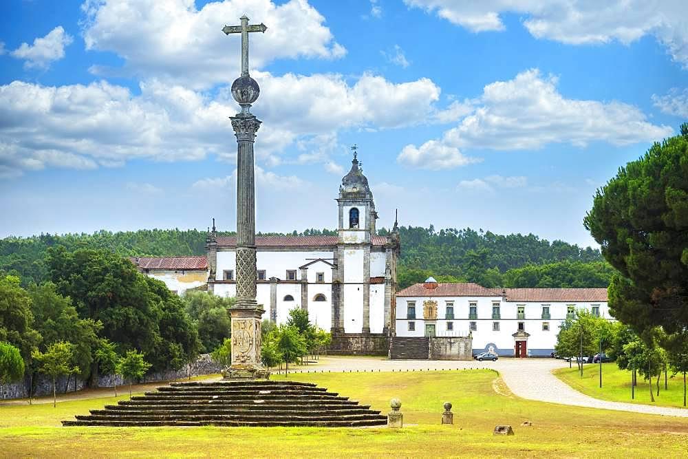 St. Martin of Tibaes Monastery, Stone cross, Braga, Minho, Portugal, Europe