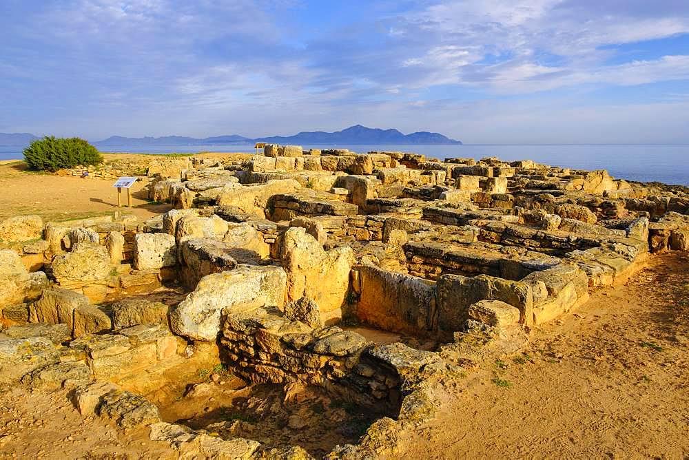 Necropolis of Son Real, Punta des Fenicis near Can Picafort, Majorca, Balearic Islands, Spain, Europe
