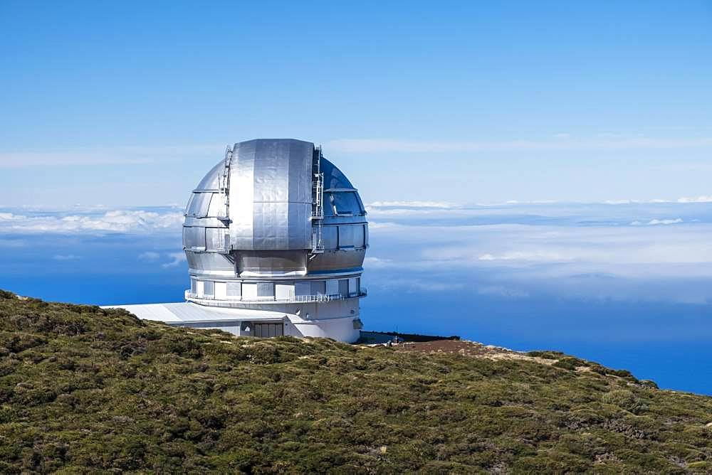 Observatory, Observatory on the Roque de los Muchachos, Gran Telescopio Canarias, La Palma, Canary Islands, Canary Islands, Spain, Europe
