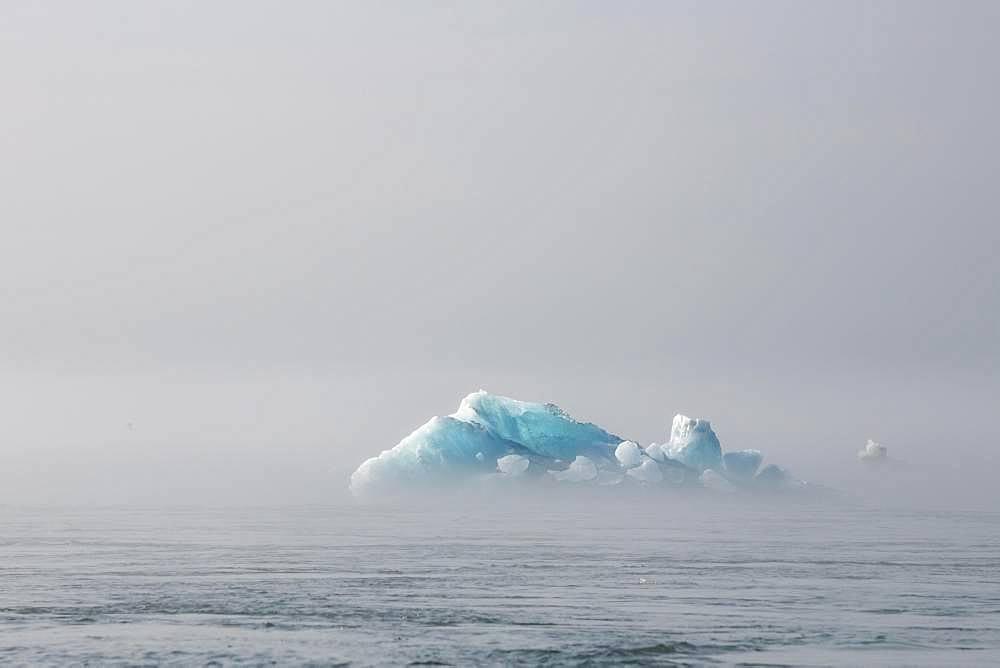 Iceberg, near glacier lagoon Joekulsarlon, Vatnajoekull National Park, Hornafjoerour, Southern Iceland, Iceland, Europe