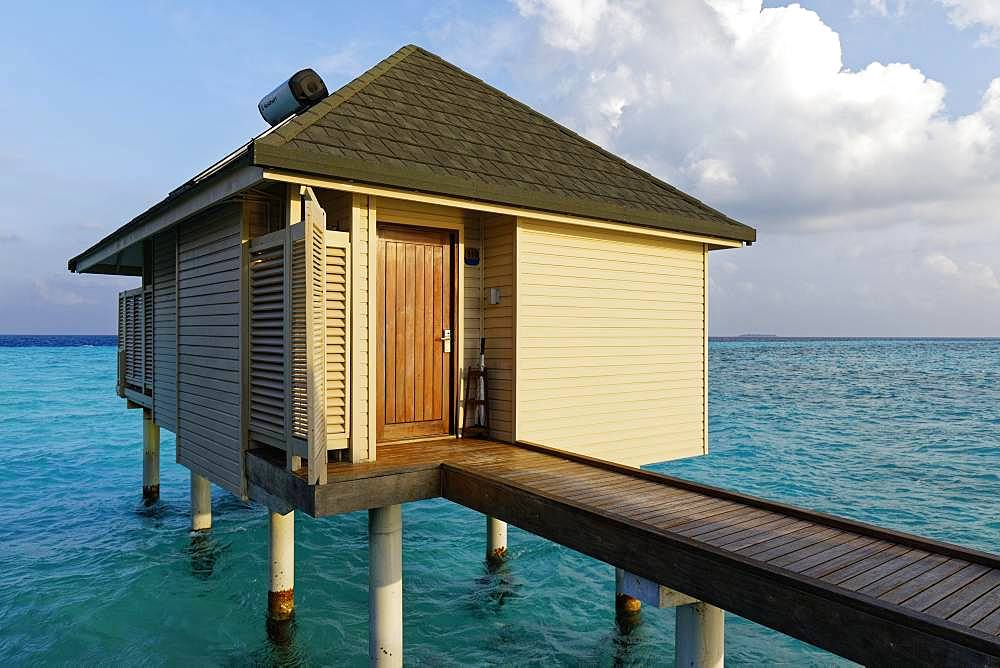 Water bungalow, Summer Island, North Male Atoll, Maldives, Asia