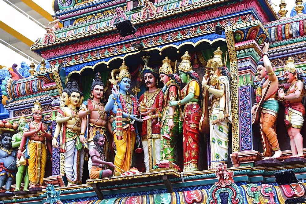 Shri Krishnan Hindu Temple, Bugis, Singapore, Asia