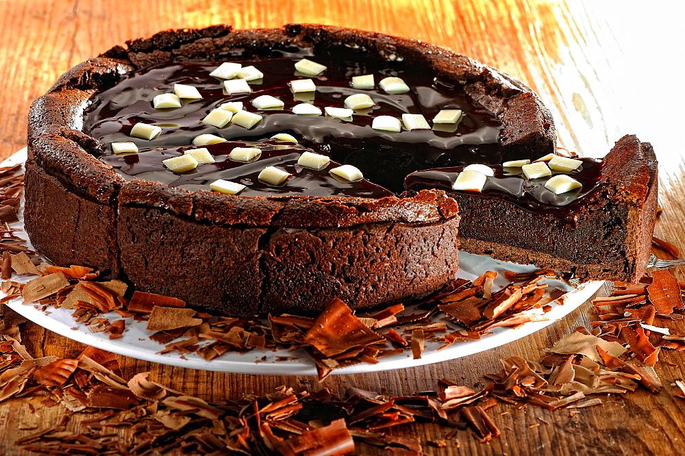 Chocolate cake, baked goods, dessert, Germany, Europe