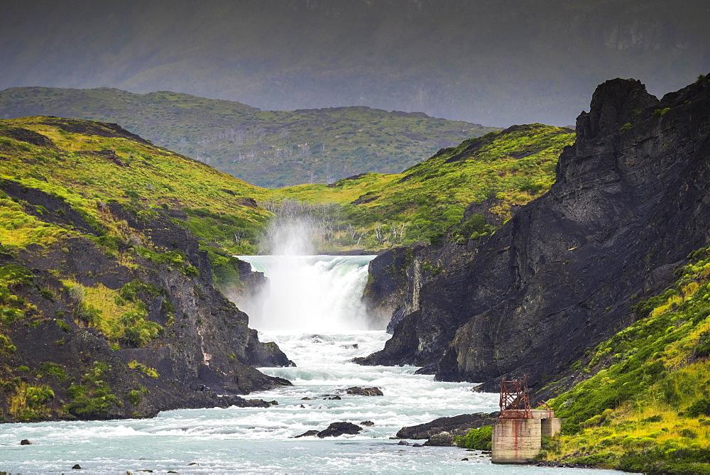 Salto Grande Waterfall, Torres del Paine National Park, Patagonia, Region de Magallanes y de la Antartica Chilena, Chile, South America